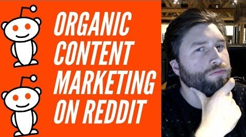 organic content marketing on reddit